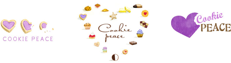 cookie peace logo design options